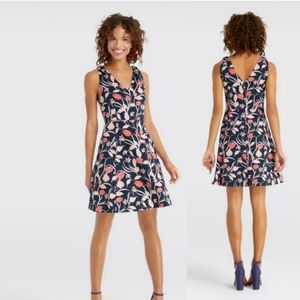 Draper James NEW Knot Shoulder Love Circle Dress